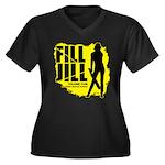 Fill Jill Women's Plus Size V-Neck Dark T-Shirt