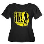 Fill Jill Women's Plus Size Scoop Neck Dark T-Shir