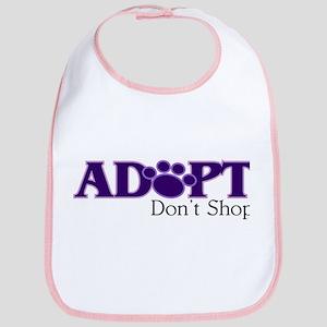 Adopt Don't Shop In Purple Baby Bib
