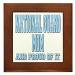 National Guard Mom Proud Framed Tile