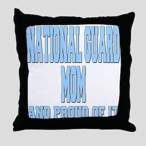 National Guard Mom Proud Throw Pillow