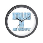 National Guard Mom Proud Wall Clock