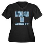 National Guard Mom Proud Women's Plus Size V-Neck