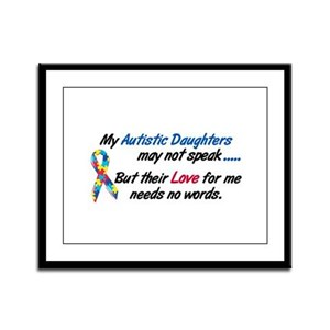 Needs No Words 1 (Daughters) Framed Panel Print
