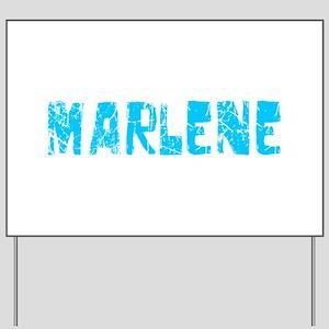Marlene Faded (Blue) Yard Sign