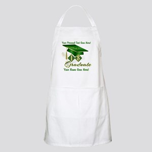 Green Cap and Diploma Light Apron