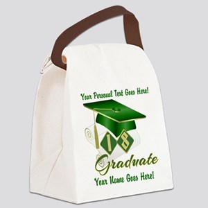 Green Cap and Diploma Canvas Lunch Bag