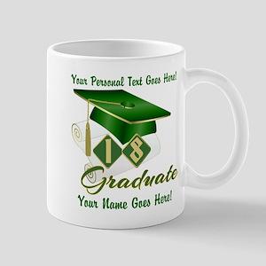 Green Cap and Diploma Mugs