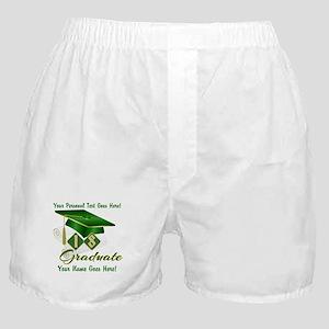 Green Cap and Diploma Boxer Shorts