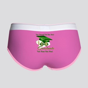 Green Cap and Diploma Women's Boy Brief