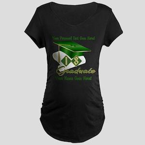 Green Cap and Diploma Maternity T-Shirt
