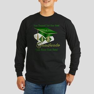 Green Cap and Diploma Long Sleeve T-Shirt