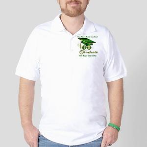 Green Cap and Diploma Golf Shirt
