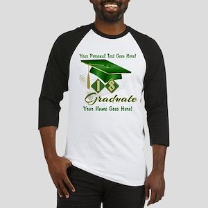 Green Cap and Diploma Baseball Jersey