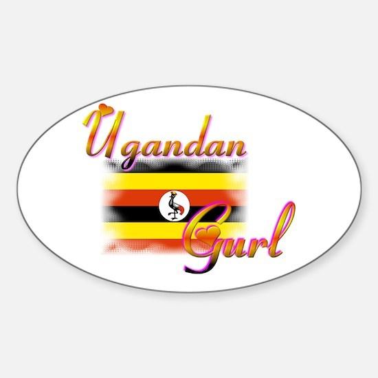 Uganda Gurl - Oval Decal