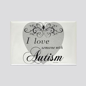 I love Someone With Autism ~ Rectangle Magnet