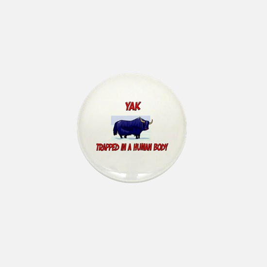 Yak trapped in a human body Mini Button