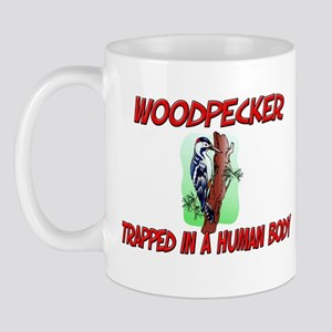 Woodpecker trapped in a human body Mug