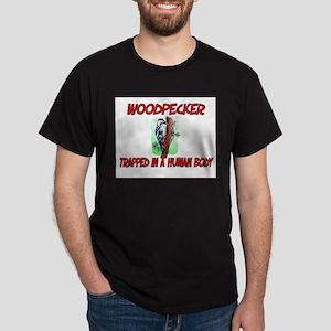 Woodpecker trapped in a human body Dark T-Shirt