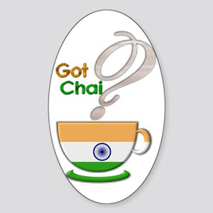 Got Chai? Indian - Oval Sticker