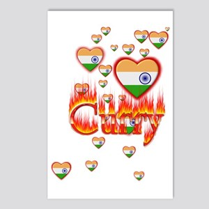 (Hearts - Indian Flag) Curry - Postcards (Package