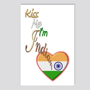 Kiss Me, I'm Indian - Postcards (Package of 8)