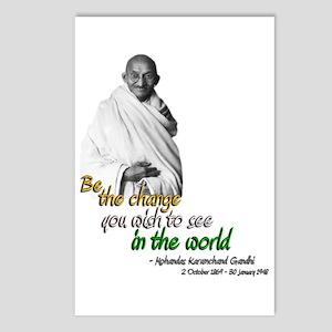 Mahatma Gandhi - Be The Change - Postcards (Packag