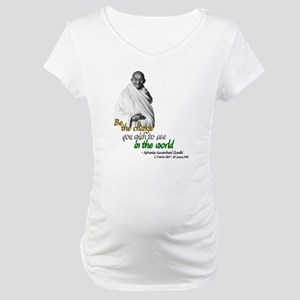 Mahatma Gandhi - Be The Change - Maternity T-Shirt