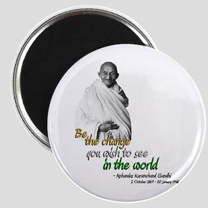 Mahatma Gandhi - Be The Change - Magnet