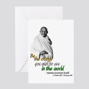 Mahatma Gandhi - Be The Change - Greeting Card