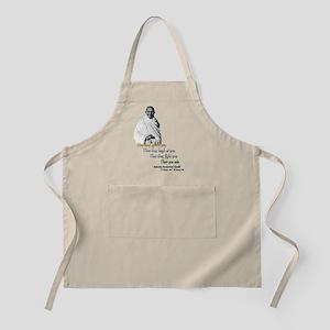 Mahatma Gandhi Picture + Text - BBQ Apron