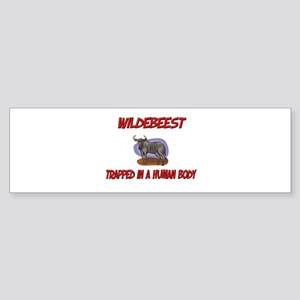 Wildebeest trapped in a human body Sticker (Bumper