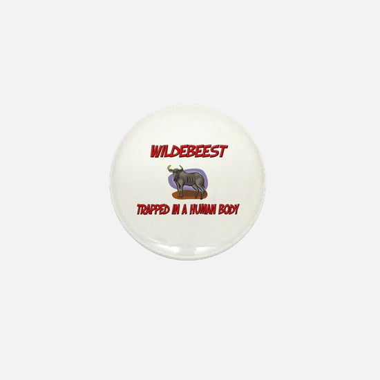 Wildebeest trapped in a human body Mini Button
