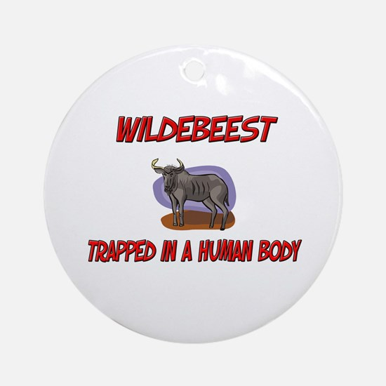 Wildebeest trapped in a human body Ornament (Round