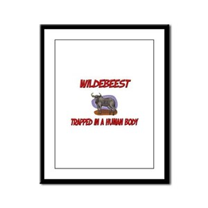 Wildebeest trapped in a human body Framed Panel Pr