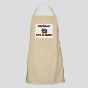 Wildebeest trapped in a human body BBQ Apron