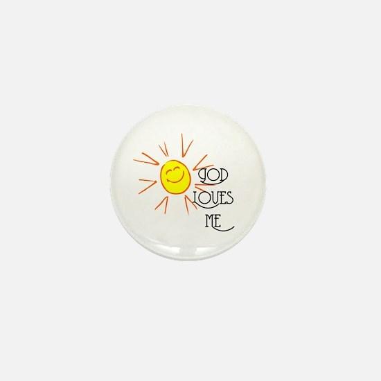 God Loves Me Mini Button