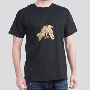 Bald Eagle Flying Wings Down Drawing T-Shirt