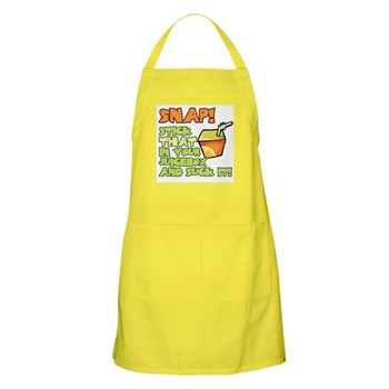 Snap! Stick that in your juice box... BBQ Apron