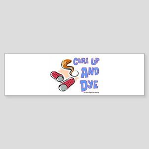 Curl Up And Dye Salon Bumper Sticker