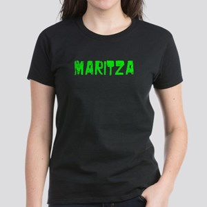 Maritza Faded (Green) Women's Dark T-Shirt