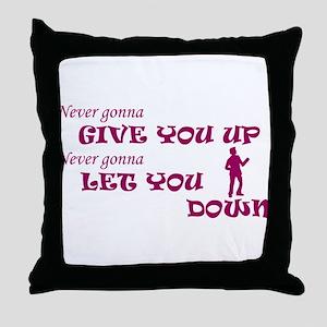 Rickroll'd Throw Pillow