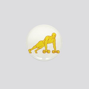 Fitness Athlete Push Up Dumbbell Drawing Mini Butt