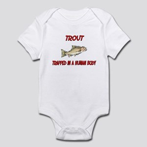 Trout trapped in a human body Infant Bodysuit