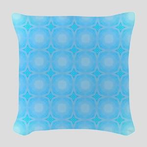 Blue Dots Texture Woven Throw Pillow