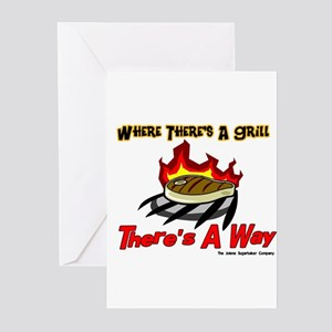 Where there's a Grill There's Greeting Cards (Pack