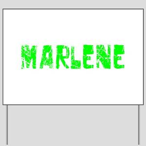 Marlene Faded (Green) Yard Sign