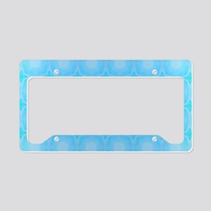 Blue Dots Texture License Plate Holder