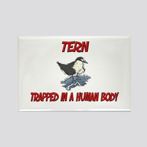 Tern trapped in a human body Rectangle Magnet
