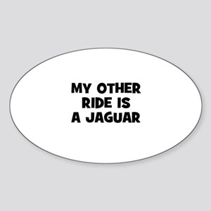 my other ride is a Jaguar Oval Sticker